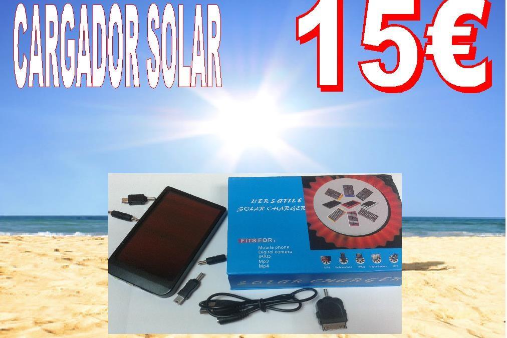 Cargador solar de móvil